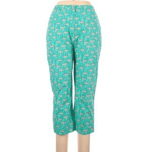 Lilly Pulitzer teal orange fish pants size 10
